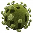 Stock Photo: Miniature planet with grove park vegetation