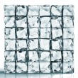 Stock Photo: Wall of ice cube bricks