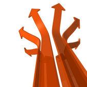 Arrows diverge — Stock Photo