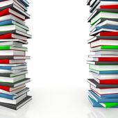 Book piles frame — Stock Photo