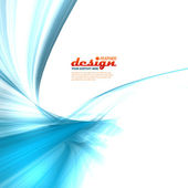 Blue feather rays design — Stock Photo