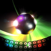Disco ball party concept — Stok fotoğraf