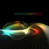 Retro laser wave background — Stock Photo