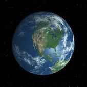 Earth globe facing North America — Stock Photo