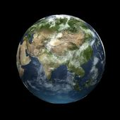 Earth globe facing Asia — Stockfoto