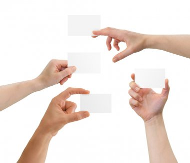 Hands holding card