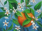 Orange painting — Stock Photo