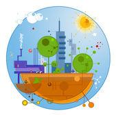 Geleceğin şehri — Stok Vektör
