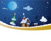 Christmas house — Stock Vector
