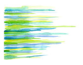 Gren an blue watercolor strips — Stock Photo