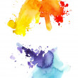 Two watercolor splashes — Stock Photo