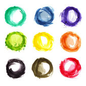 Watercolor colorful circles — Stock Photo