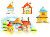 Watercolor house — Stock Photo