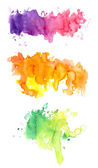 Three colorful watercolors — Stock Photo