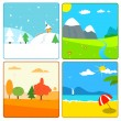 Stock Vector: 4 season