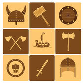 Viking icons — Stock Vector
