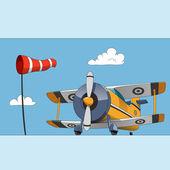 Acrobatic biplane — Vecteur