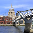 London Millennium Bridge — Stock Photo