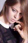 Pensive blonde — Stock Photo
