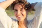 Beautiful girl on a beach — Stock Photo