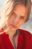 Young beautiful girl portrait — Stock Photo