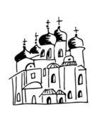 Russian church — Stock Vector
