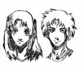 Manga — Stock Vector