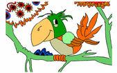 鹦鹉在白色背景上 — 图库矢量图片