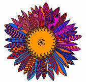 Sunflower multicolor — Stock Vector