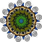 Mandala eyes on white background — Stock Vector