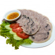 Pork leg ham and dipping sauce — Stock Photo #33143653