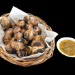 Grilled Thai Escargot Shells with seafood dipping sauce — стоковое фото #33147083
