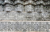 The old thai style stucco wall — Stock Photo