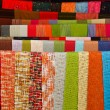 Colorful of handmade shawls in laos market — Stock Photo