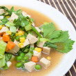 Stock Photo: Fried mixed vegetable(carrot, corn, sugar peas and Chinese Cabba