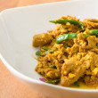Stock Photo: Kaur Gling Moo - Stir fried pork with hot yellow curry paste