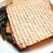 Matzo & Thyme - Stock Photo