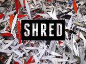 Shred Text — Stock Photo