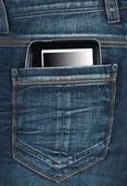 E-book en el bolsillo — Foto de Stock