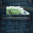 Royalty-Free Stock Photo: Pocket with euro
