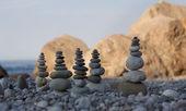 Pyramids of stones — Stock Photo
