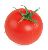 Tomato with drops — Stock Photo