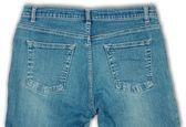 Bawełniane niebieskie dżinsy — Zdjęcie stockowe