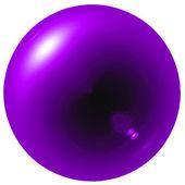 Brilho roxo bola — Fotografia Stock