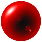 Glare red ball — Stock Photo