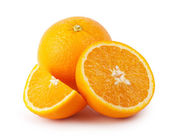 Bright orange sliced — Stock Photo