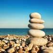 Cairn on the pebbly — Stock Photo