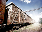 Cars of freight train — Stock Photo