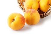 Koš s meruňkami — Stock fotografie