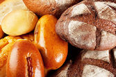 Background of different kinds bread — Stock Photo